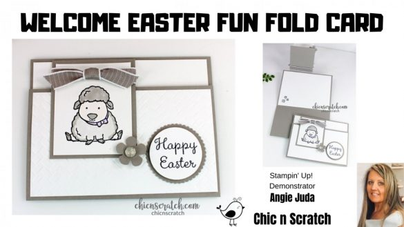 Welcome Easter Fun Fold Card