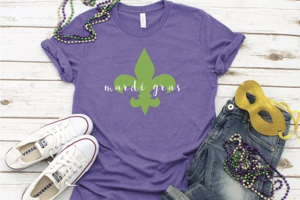 Easy DIY Mardi Gras Shirt