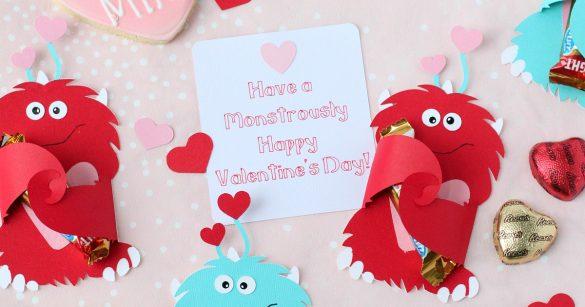 DIY Cricut Monster Valentine Candy Cards