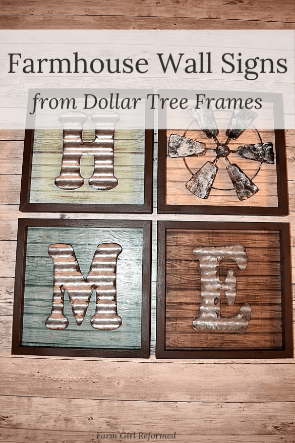 Farmhouse Wall Decor from Dollar Tree
