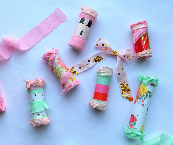 Wrapping Paper Candles
