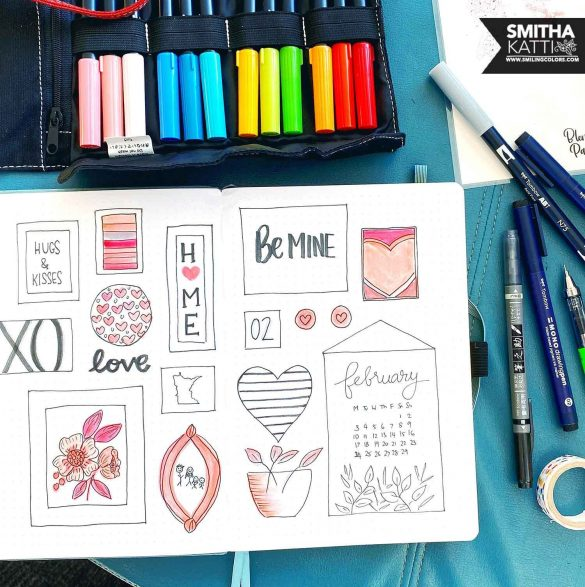 Bullet journal cover page step by step tutorial
