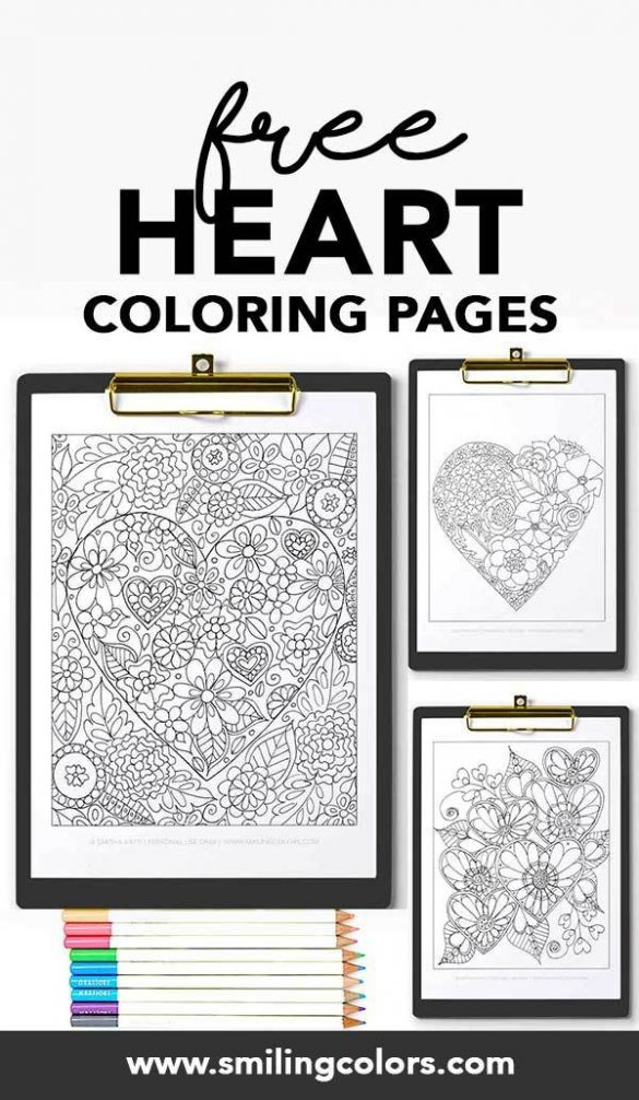 FREE Heart coloring pages that you can enjoy now!