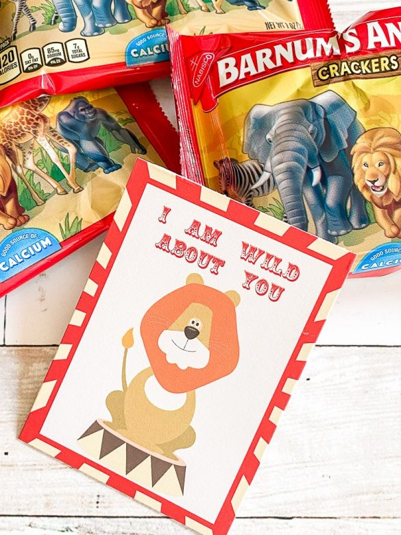 Wild About You Kids Valentine's Day Card