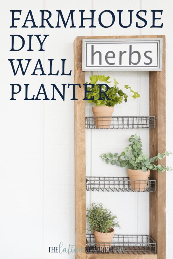 DIY Farmhouse Wall Planter