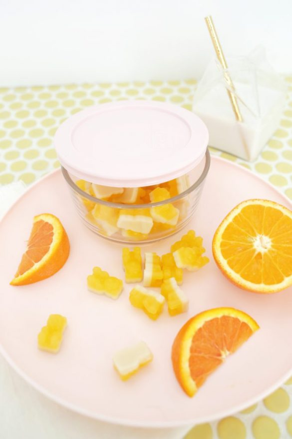 Easy Orange Creamsicle Gummy Bears!