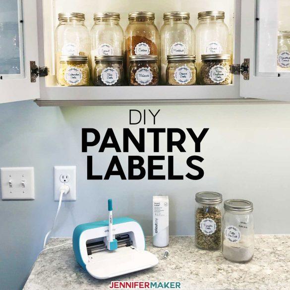 DIY Pantry Labels on a Cricut Joy, Explore, or Maker!
