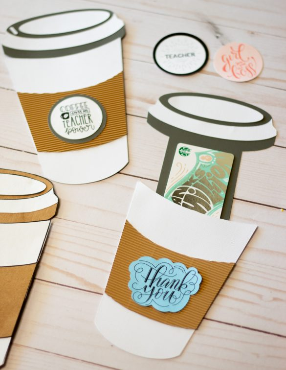 Coffee Cup Gift Card Holder Template FREE PDF and SVG File!