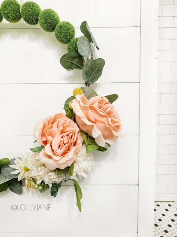DIY Moss Ball Floral Wreath Tutorial + Blog Hop!