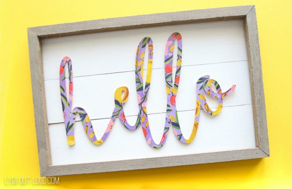 How to Make a Wood Sign with a Cricut Maker