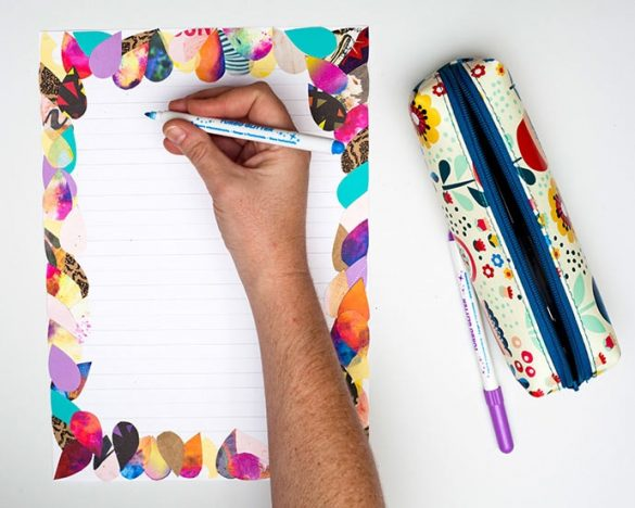 DIY Collage Letter Writing Paper Stationery Set
