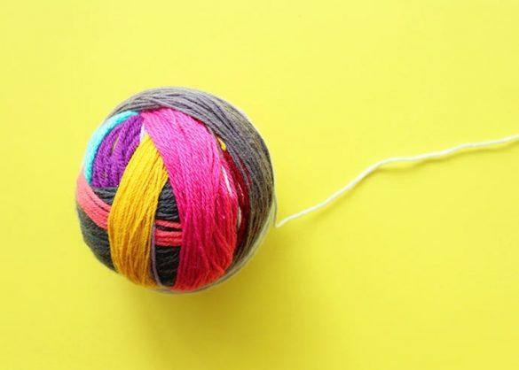 Make a Giant Magic Yarn Ball from Yarn Scraps