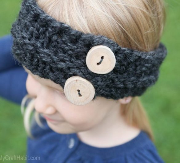 Child's Easy Free Knitted Headband Pattern
