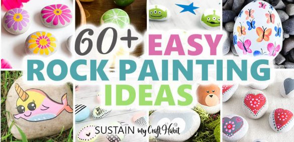 60+ BEST Painted Rocks (for all Skill Levels)