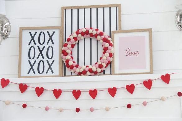 Valentine Mantle Decor and Prints