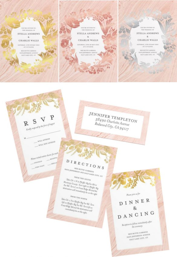 Floral Wedding inviations with Mixbook