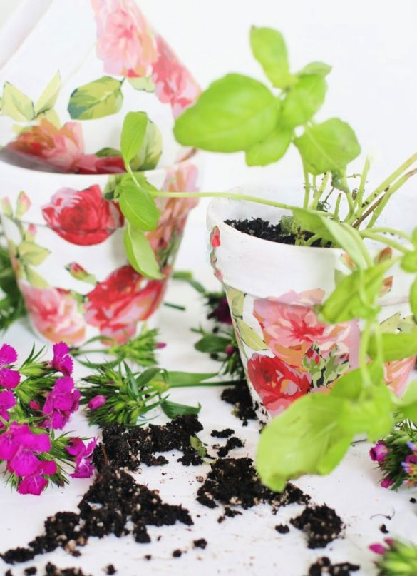 Spring Craft DIY Flower Pots for Flowers