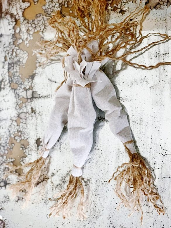 DIY Easter Carrots Made From Drop Cloth