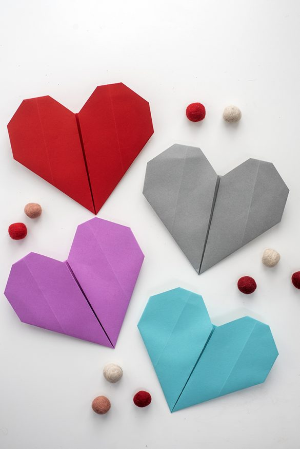 DIY Origami Hearts