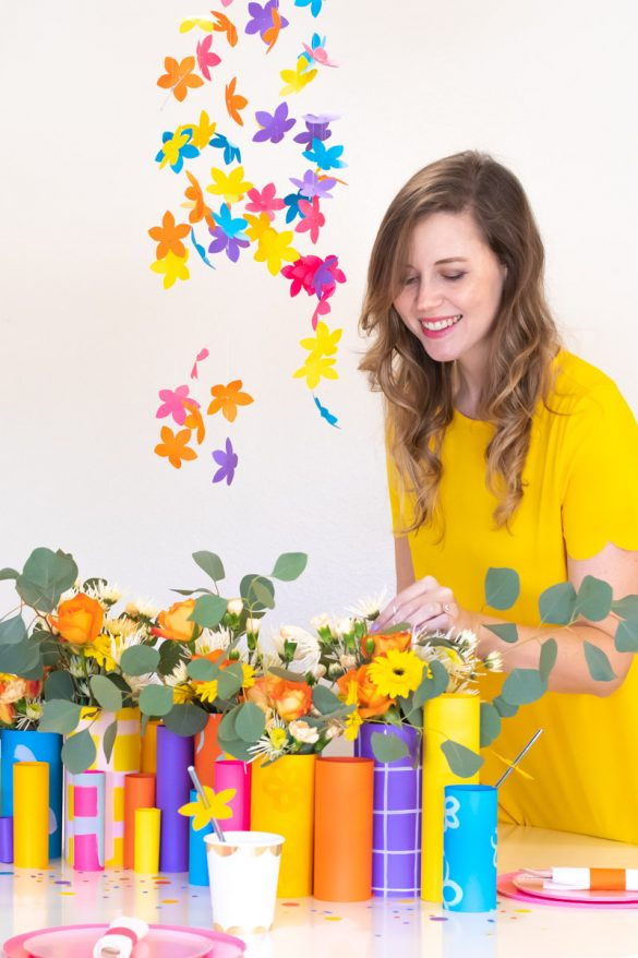 Colorful Spring Party with DIY Paper Decor