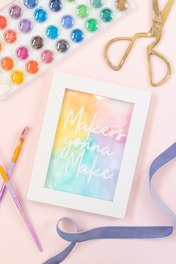 Easy Watercolor Artwork Hack