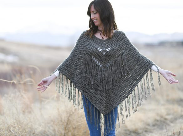 How To Crochet A Poncho – Trails End Seamless Poncho