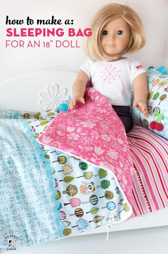 18″ Doll Sleeping Bag Sewing Pattern