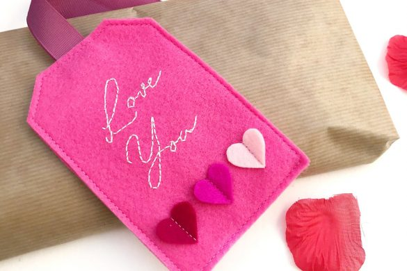 Hand Embroidered Felt Gift Tag Tutorial