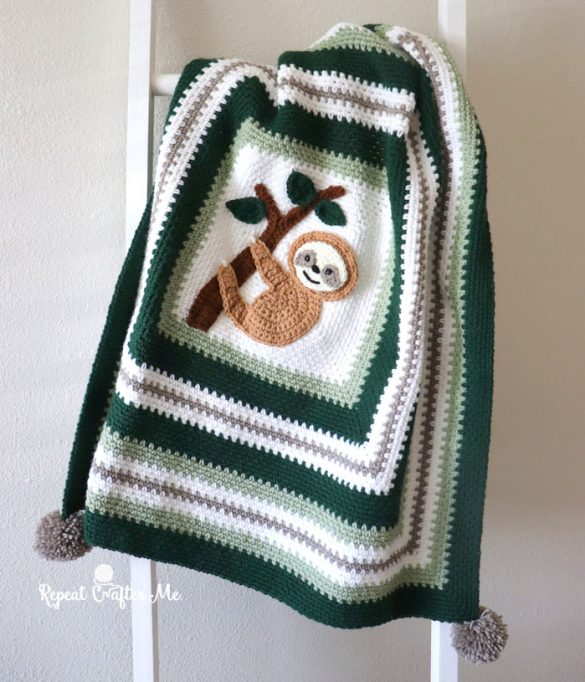 Crochet Sloth Blanket