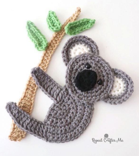 Crochet Koala Applique