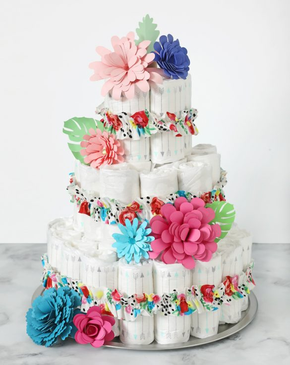 How to Make a Diaper Cake The Easy Way