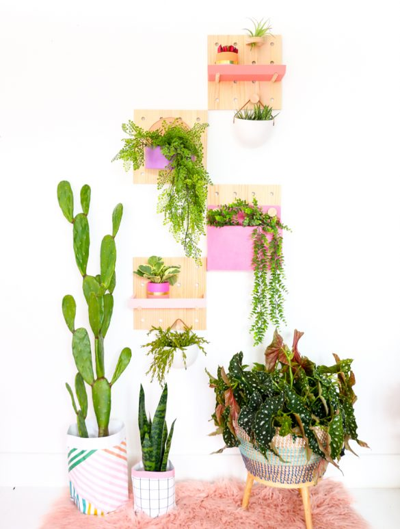 DIY Pegboard Living Plant Wall