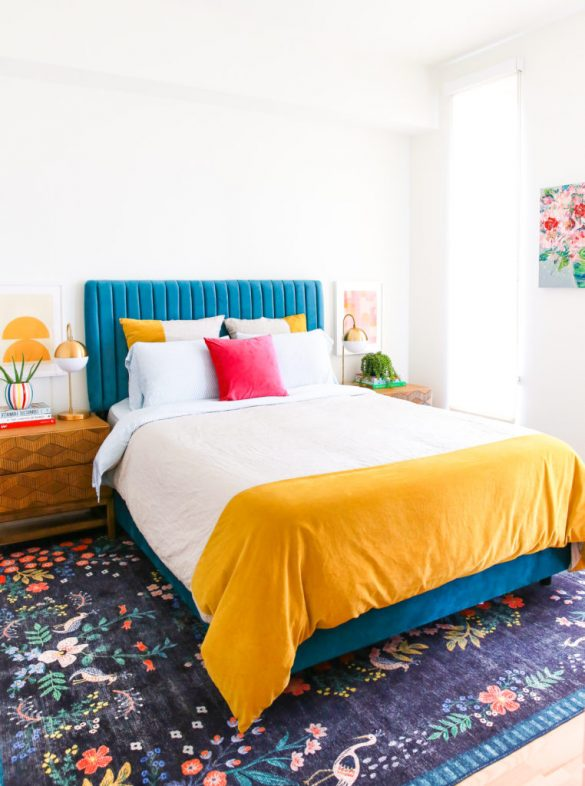 Our Colorful Bedroom Makeover