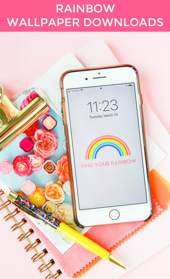 Rainbow Printable + Wallpaper Downloads