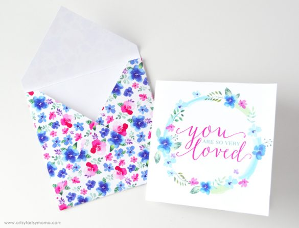 "Free Printable ""You Are Loved"" Card Set"