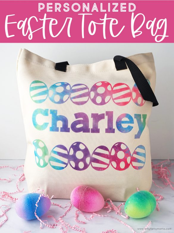 Personalized Easter Tote Bag