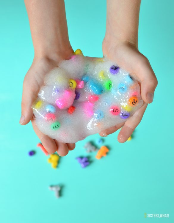 Easy See Through I Spy Slime Recipe without Borax