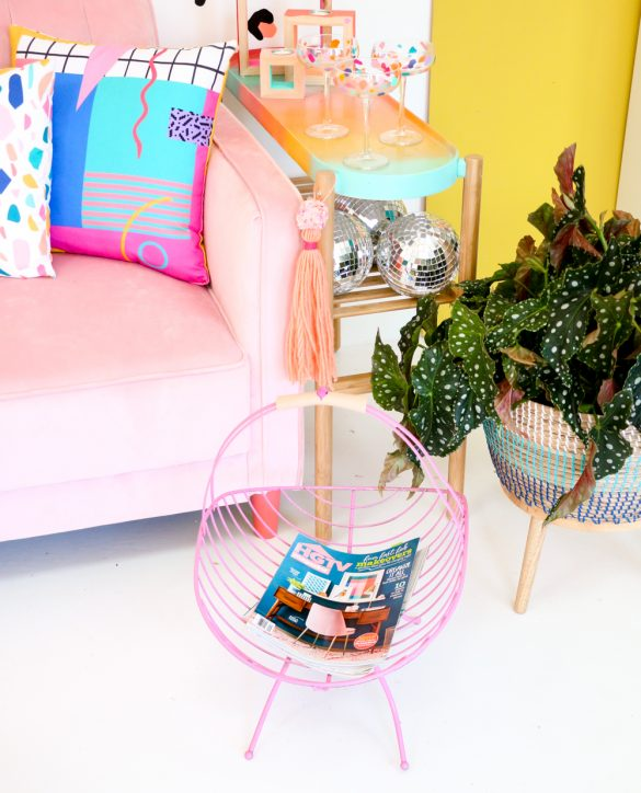 Simple Magazine Rack Makeover