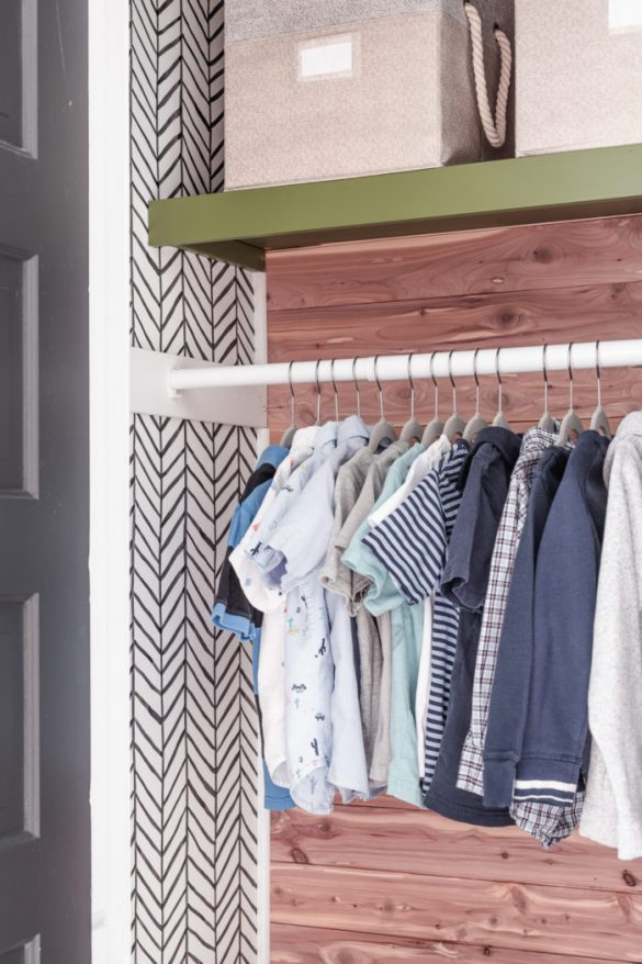 Small Kids Closet Makeover with Organization