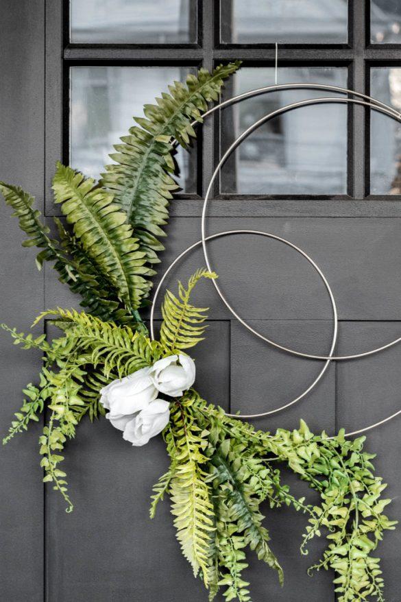 Easy DIY Spring Hoop Wreath Tutorial