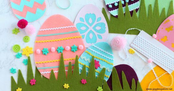 Cricut Maker DIY Felt Easter Egg Craft