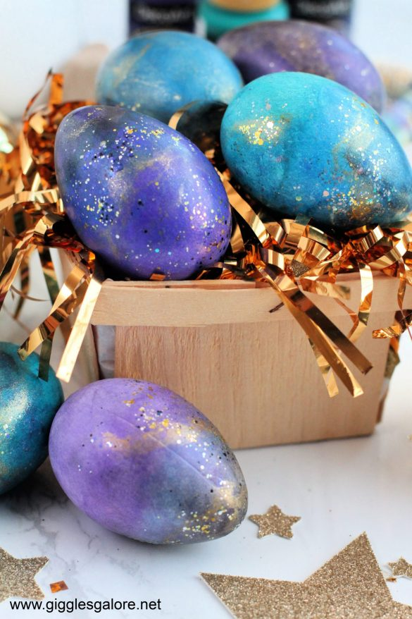 Shimmery Galaxy Easter Eggs