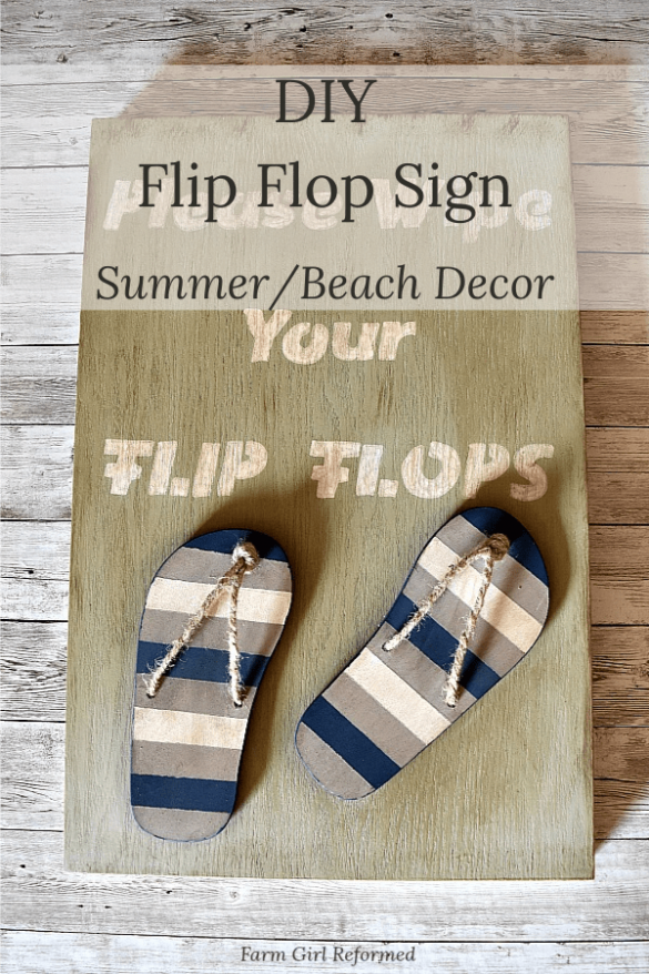 DIY Flip Flop Beach Decor Sign