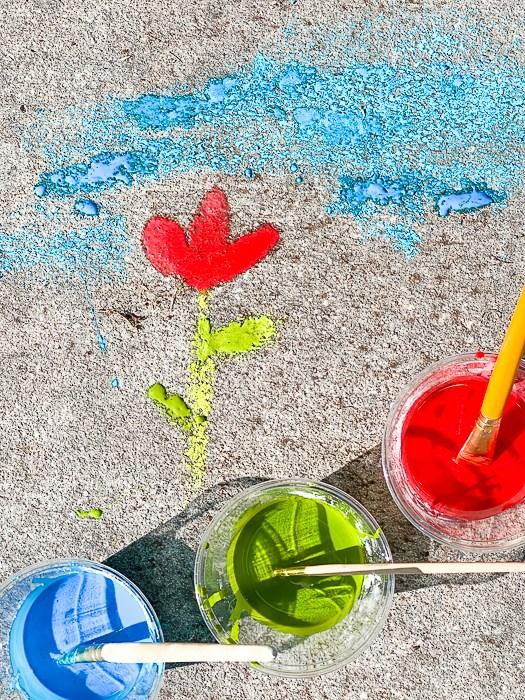 Easy DIY Sidewalk Chalk Paint