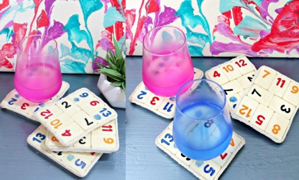 DIY Personalised Board Game Coasters – Quick & Easy