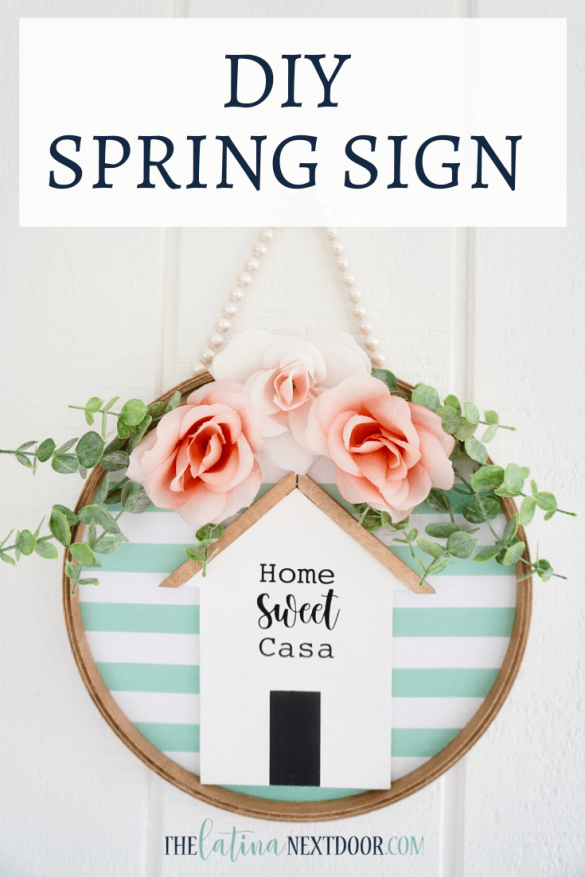 "DIY Spring ""Spanglish"" Sign"
