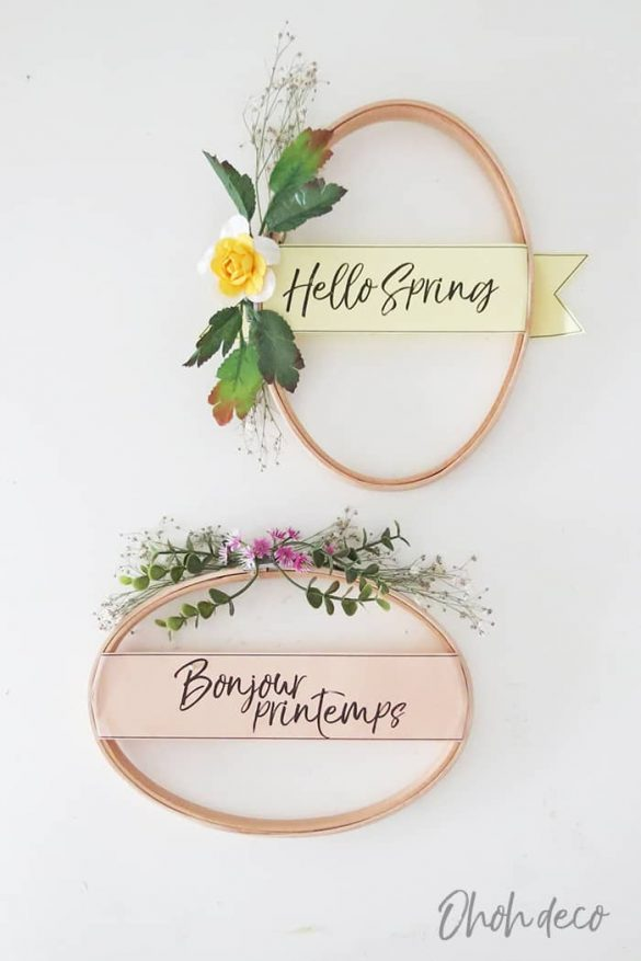 10 minutes DIY Spring Wreath