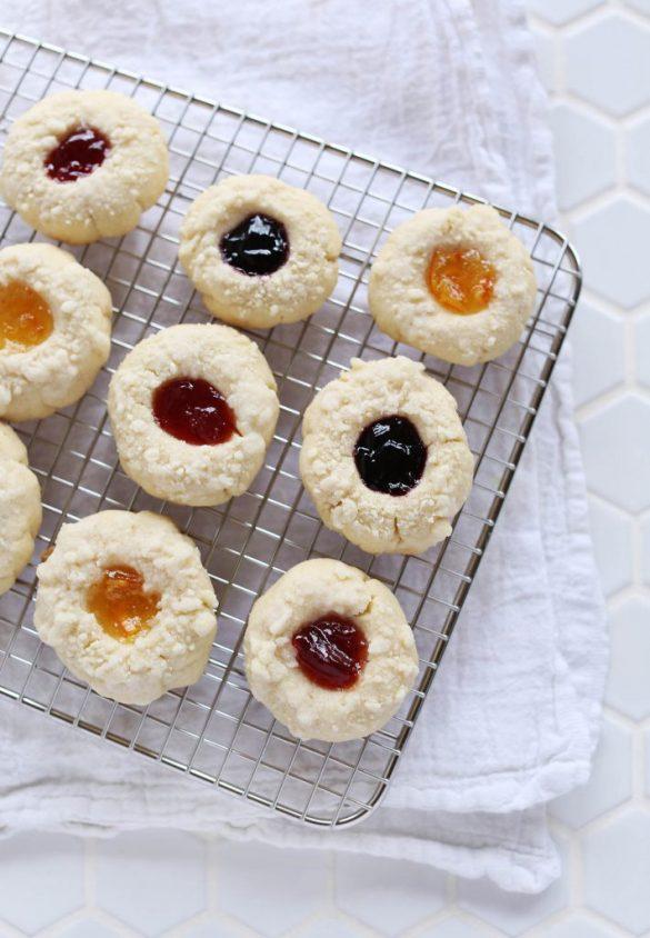 Crumb Top Thumbprint Cookies