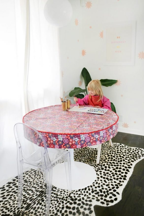 Waterproof Table Cover DIY (For Arts + Craft Time!)