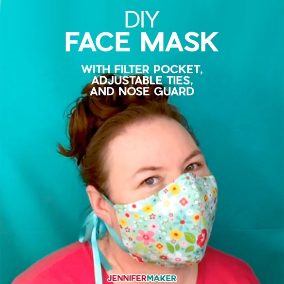Cricut Face Mask Patterns – Adjustable Ties & Filter Slot!